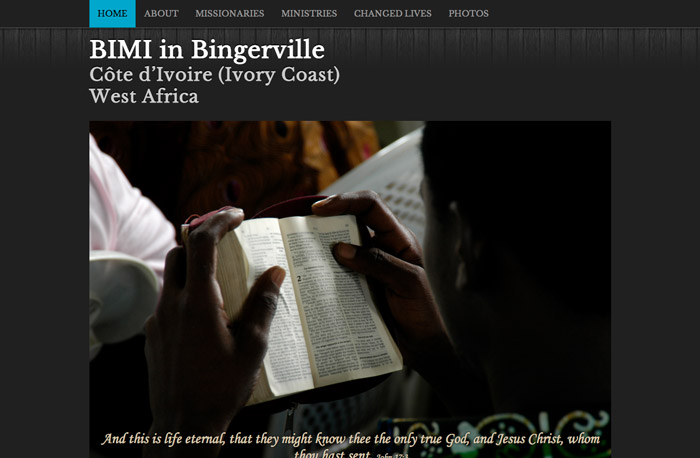 BIMI Bingerville Website